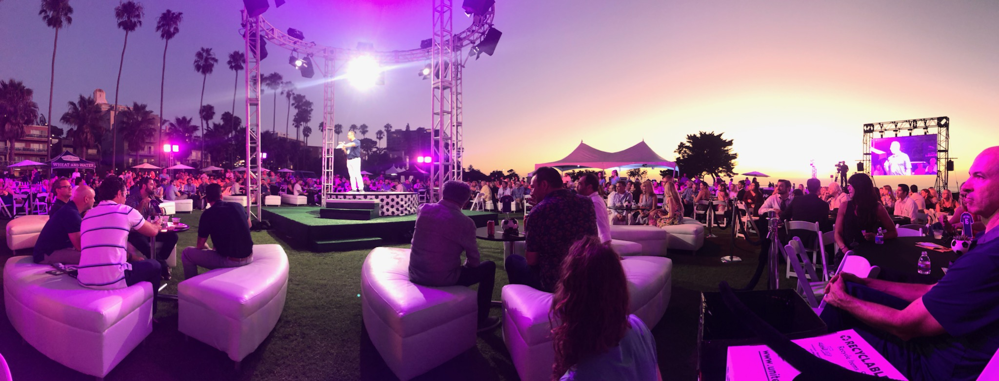Corporate lighting, audio and video by Pro Systems Event Production 2019 La Jolla, California