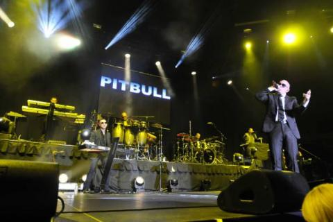 Pitbull in San Diego  Pro Systems audio lighting video