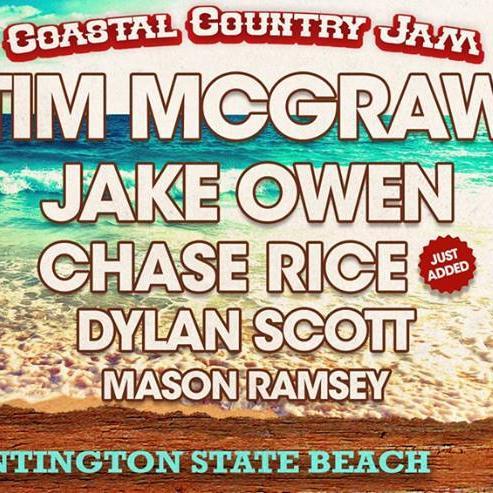 Tim McGraw, beach concert, stage