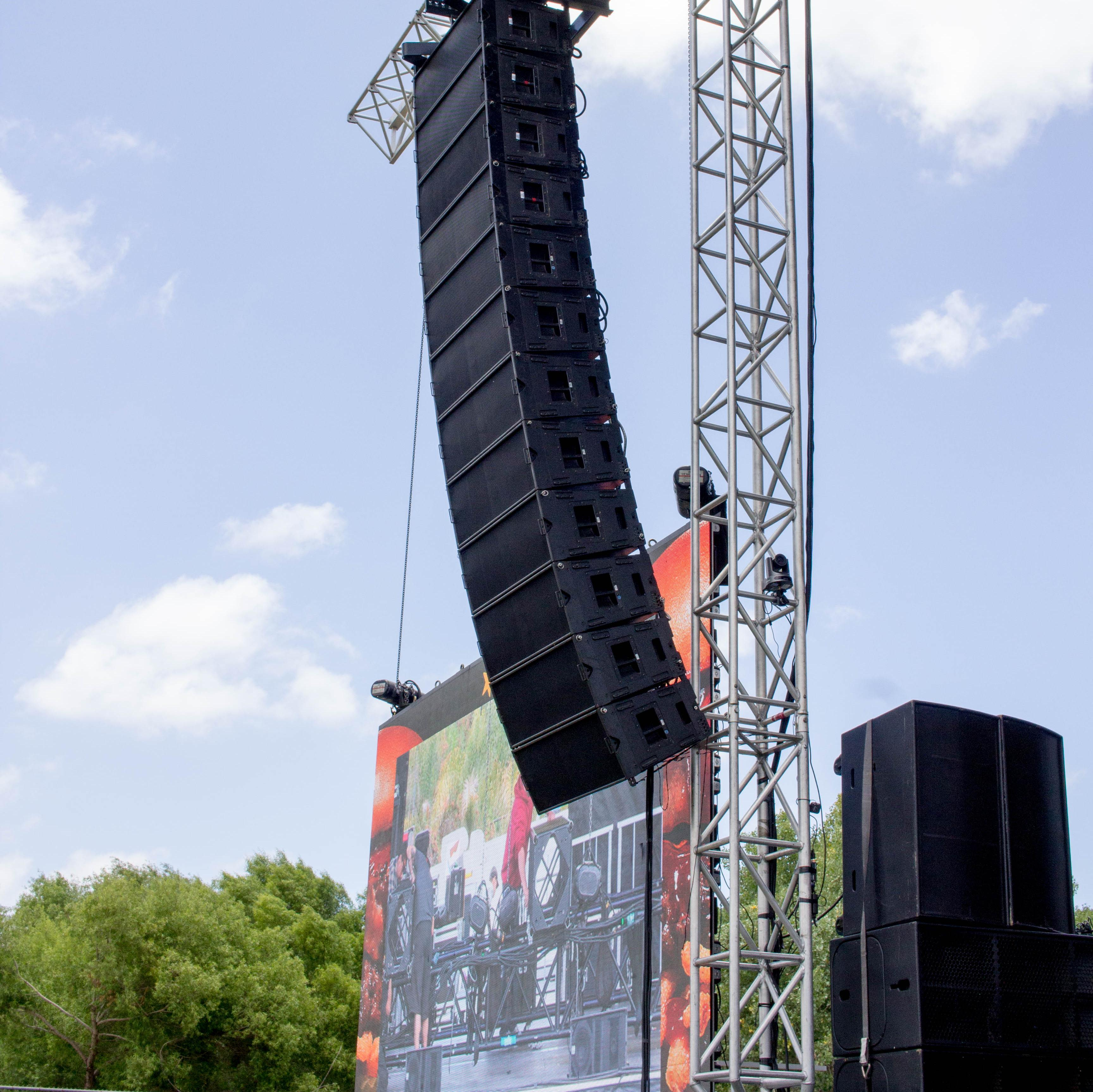 San Diego Los Angeles Concert sound lighting line array