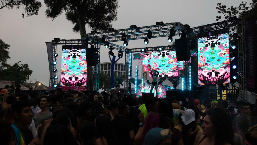 Hip hop stage pride 2019 audio visuals provided by pro systems av 2019
