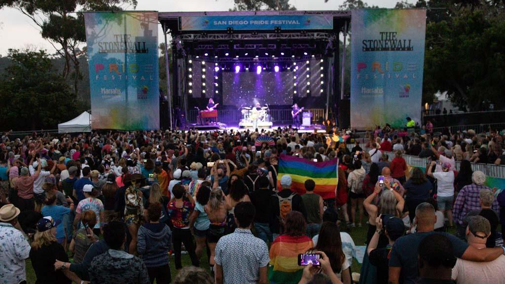 Pro Systems Av event production main stage at san diego pride 2019