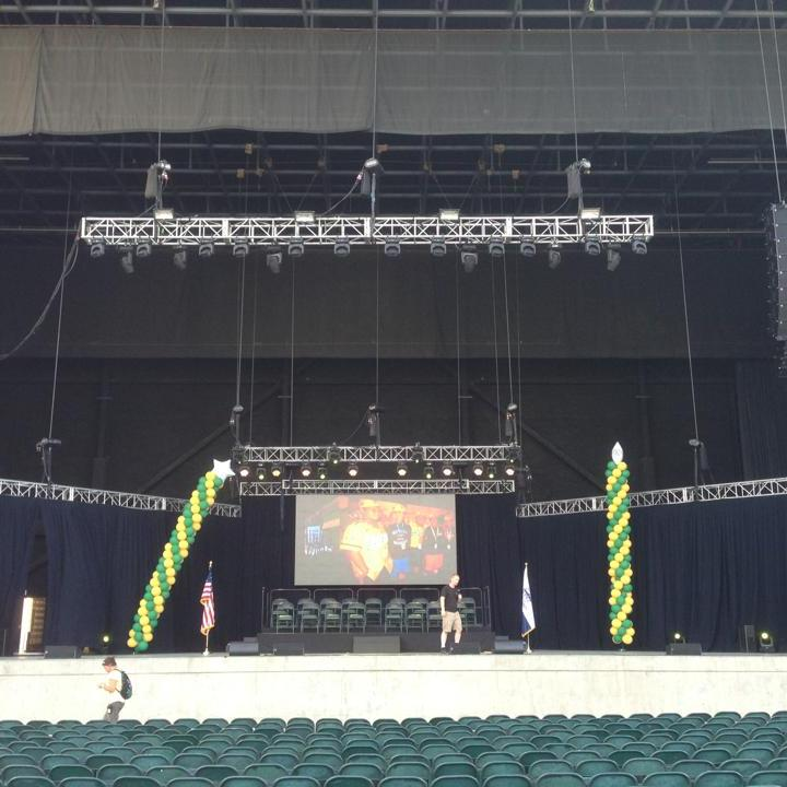 San Diego concert audio lighting - little league celebration