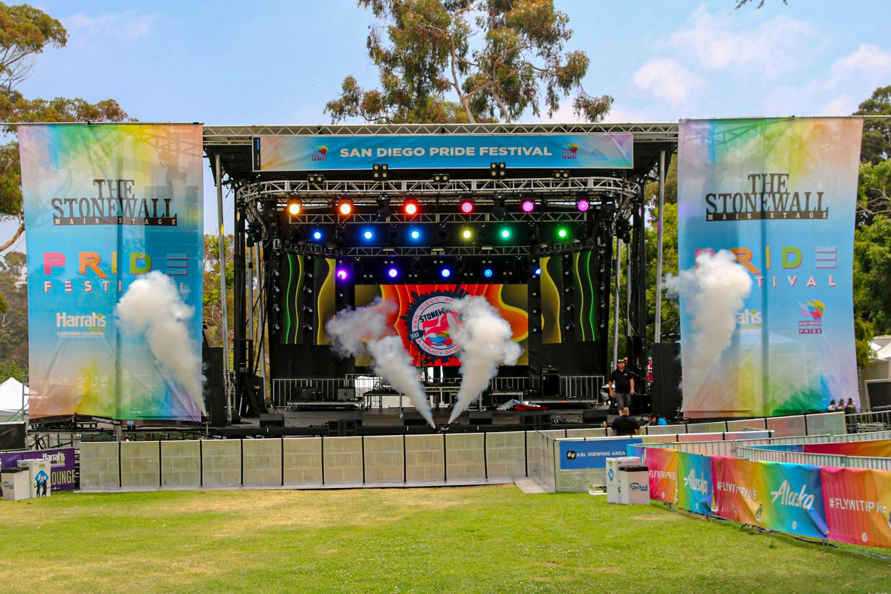 Stonewall Stage San Diego Pride 2019 Pro Systems Av Event production