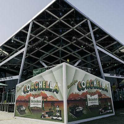 Staging at Heineken House Coachella