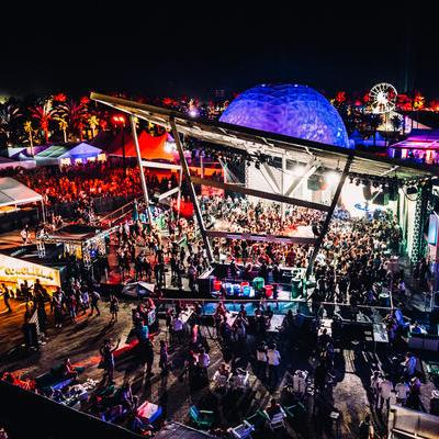 Sound, lighting and video at Heineken House during Coachella provided by Pro Systems Event Solutions