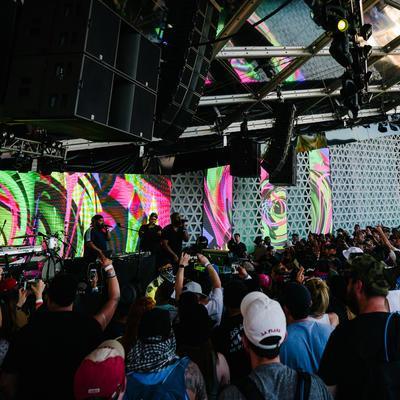 Inside Heineken House, Coachella 2019. AV provided by Pro Systems Event Solutions