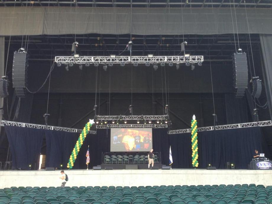 San Diego concert audio lighting - little league celebration