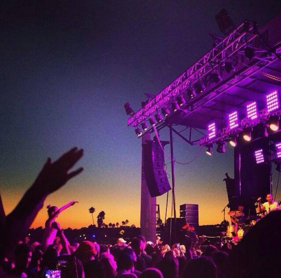 stage audio lighting concert audio PA