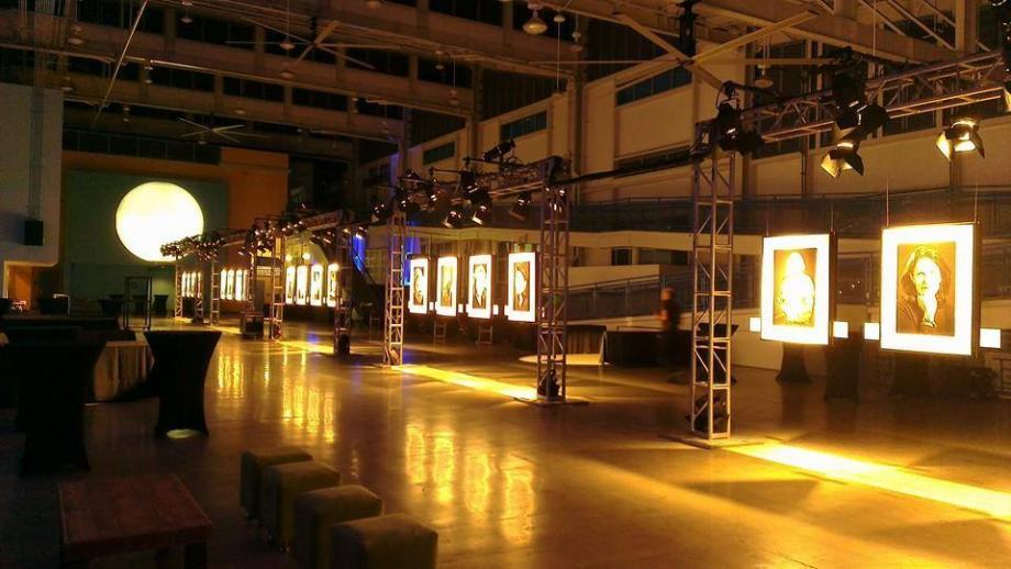 Lighting truss video port pavillion